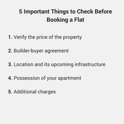 5 Important Things To Check Before Booking A Flat Housing News