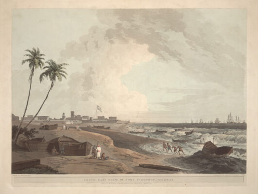 Artist's impression of south east view of Fort St George