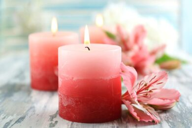 Use candles, for a home with a glowing décor and pure energy