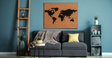 Use your travel collectibles to create an interesting home décor