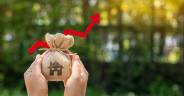 How is profit from the sale of a house property calculated?